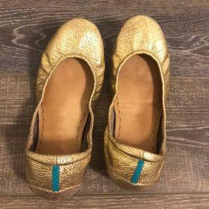 Gold golden glitz tieks size 10